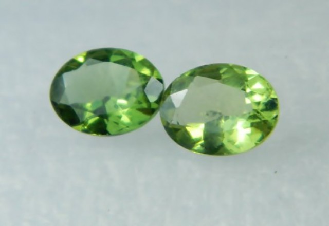 AAA+ Brazil Olive Apatite Faceted Stone Pair Z 2039