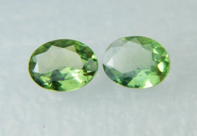 AAA+ Brazil Olive Apatite Faceted Stone Pair Z 2040