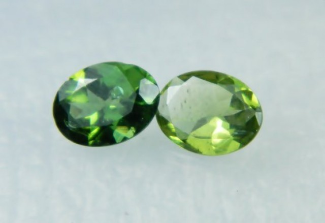 AAA+ Brazil Olive Apatite Faceted Stone Pair Z 2044