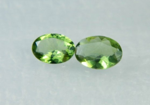AAA+ Brazil Olive Apatite Faceted Stone Pair Z 2046