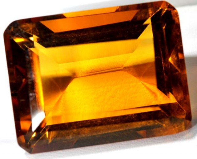 CITRINE FACETED NATURAL STONE 37.6  CTS TBM-375