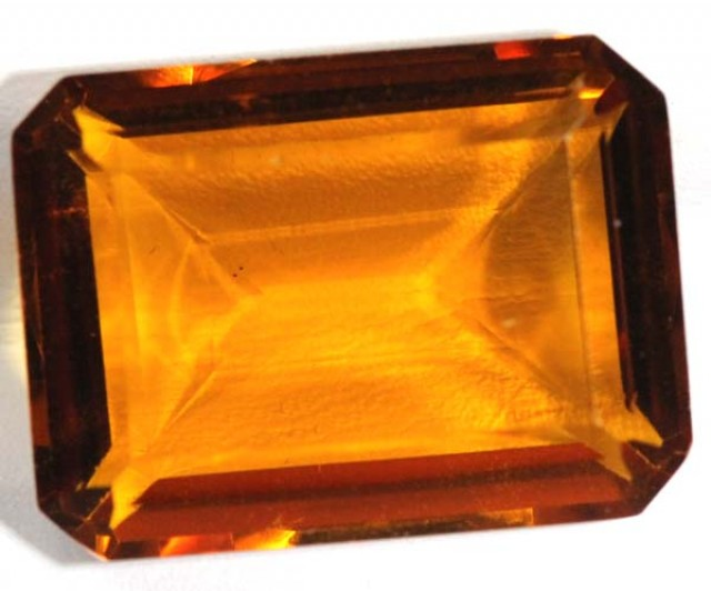 CITRINE FACETED NATURAL STONE  19.0 CTS TBM-378