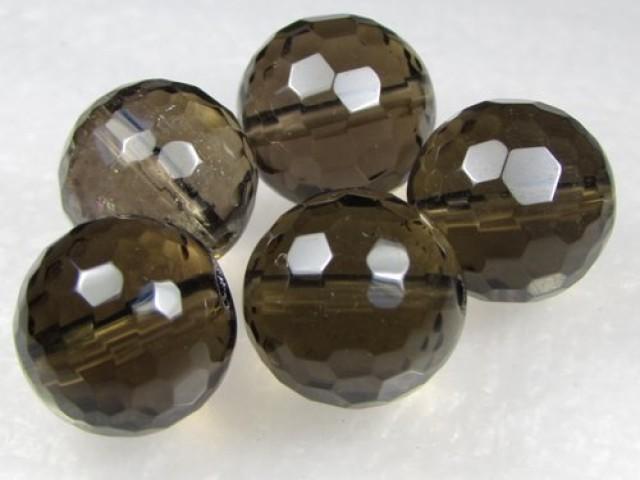 11-12mm Brazil Smokey Quartz Drilled Beads Z 2083