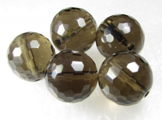 11-12mm Brazil Smokey Quartz Drilled Beads Z 2087