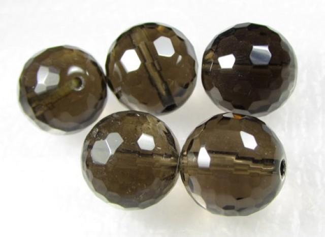 11-12mm Brazil Smokey Quartz Drilled Beads Z 2088
