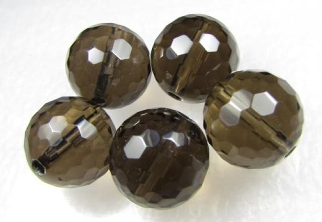 11-12mm Brazil Smokey Quartz Drilled Beads Z 2089