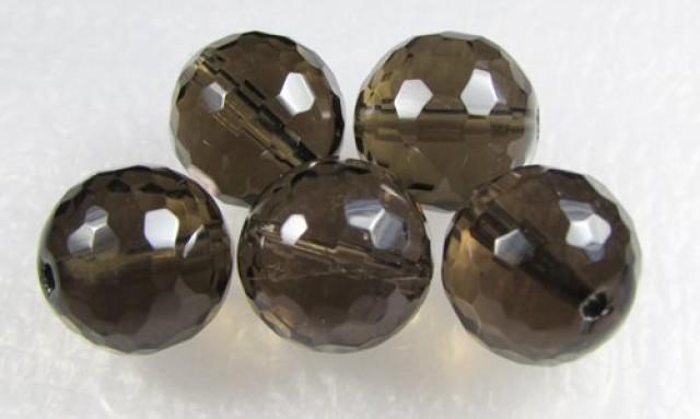 11-12mm Brazil Smokey Quartz Drilled Beads Z 2097