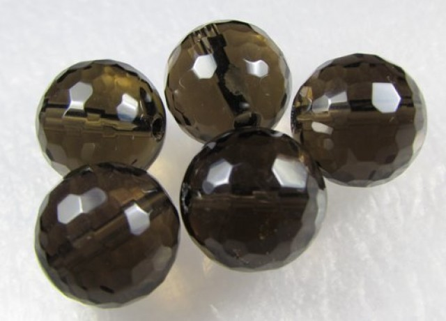 11-12mm Brazil Smokey Quartz Drilled Beads Z 2103