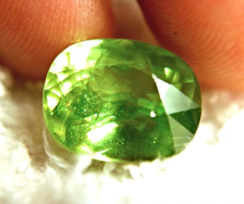 9.31 Carat Vibrant Green Siberian Rainbow Sphene - Superb