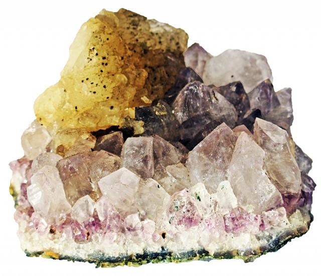 915.00 Cts Brazil Amethyst & Calcite specimen  RB 110