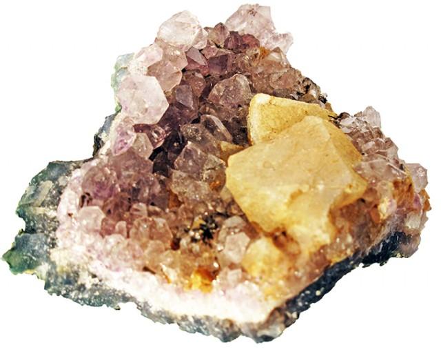 530.00 Cts Brazil Amethyst & Calcite specimen  RB 112