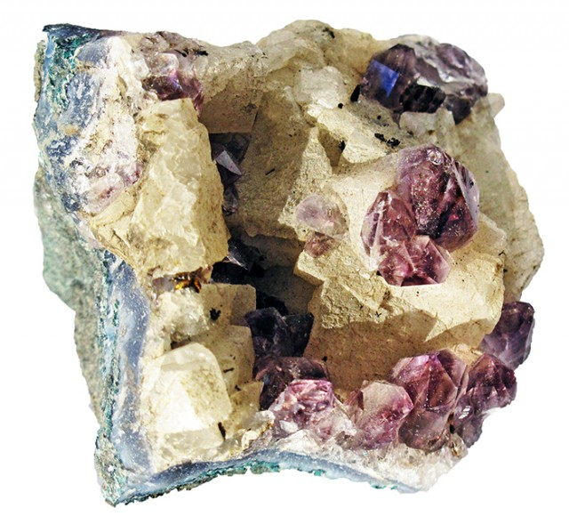 750.00 Cts Brazil Amethyst & Calcite specimen  RB 117