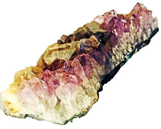 850.00 Cts Brazil Amethyst & Calcite specimen  RB 125