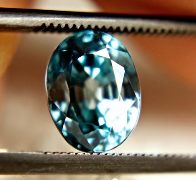 3.47 Carat VVS Blue Zircon From Southeast Asia