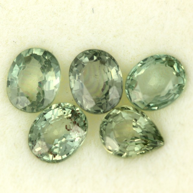 2.77 CTS GREEN SAPPHIRE PARCEL-ACCENT [ST8617]