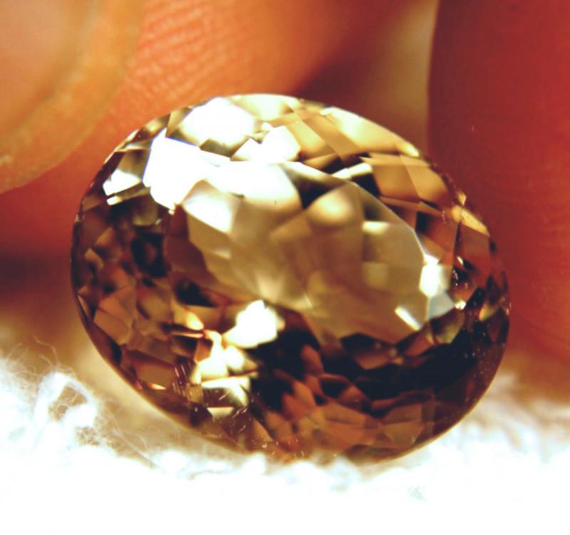 15.10 Carat VVS1 Golden Brown Brazil Topaz - Superb