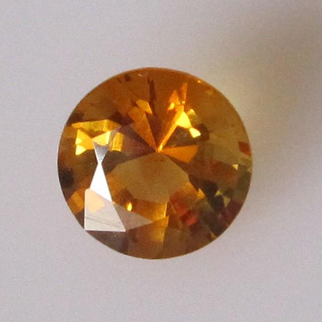 1.33cts Golden Yellow Citrine Round Shape