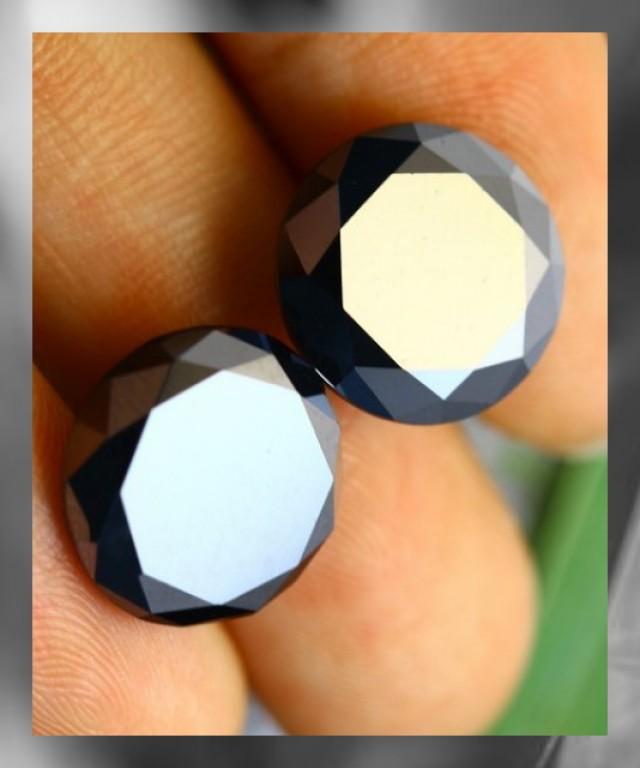 Parcel of Two Black Diamonds ~14.65cts ~ Brazil