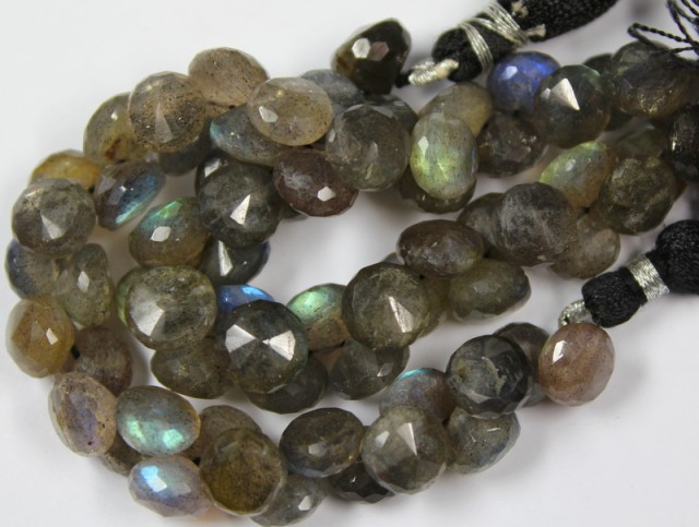 213 CTS - 1 STRAND LABRADORITE 8 X 8 MM - 10 INCHES