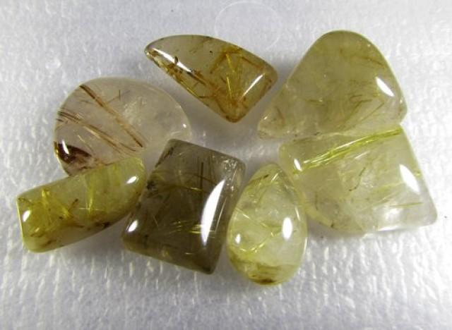 104cts Natural Brazil Golden Rutile Quartz Lot Z2243