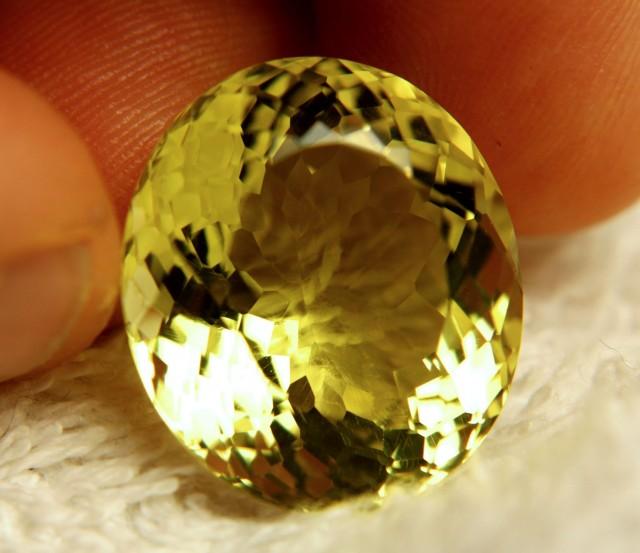 33.47 Carat IF/VVS1 Natural Brazilian Lemon Quartz