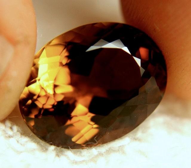 15.27 Carat VVS1 Natural Brazil Golden Amber Topaz