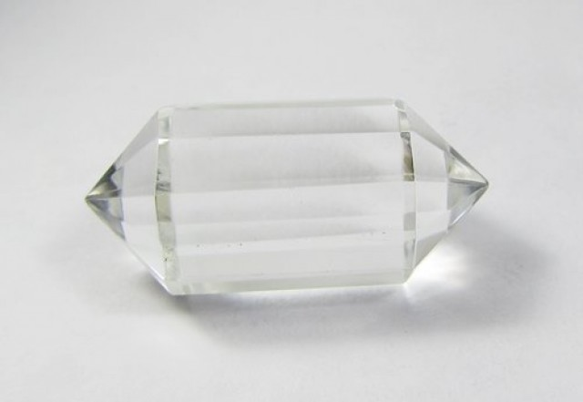 36cts Quartz Crystal Double Pointed Faceted Z2263