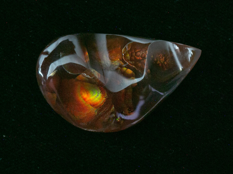 28.4ct Polished Mexican Fire Agate (MA110)