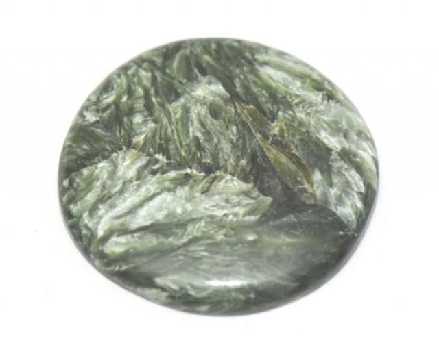40mm SERAPHiNITE heart or drop or pear cut green gemstone cabochon