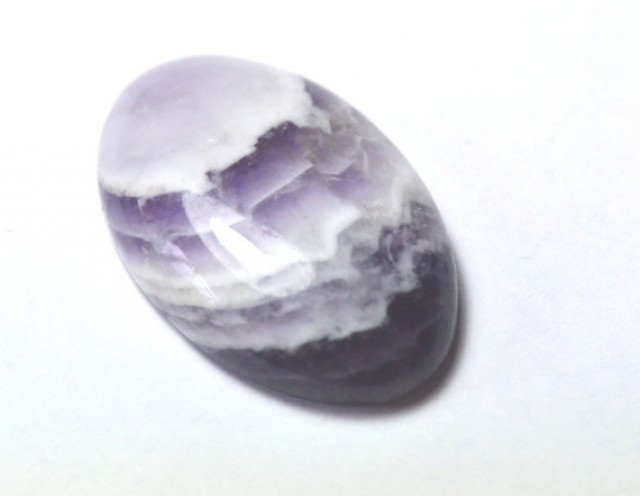 29mm oval Amethyst Lace chevron Agate cabochon purple 29 by 18 by 6mm