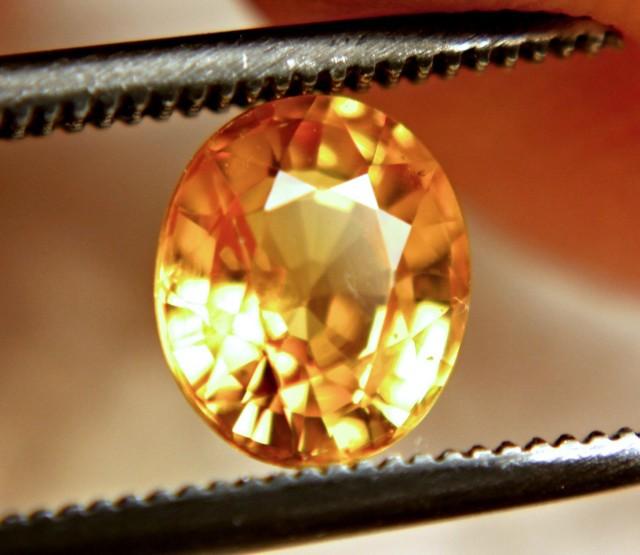 1.39 Carat VS Golden Orange Sapphire - Superb