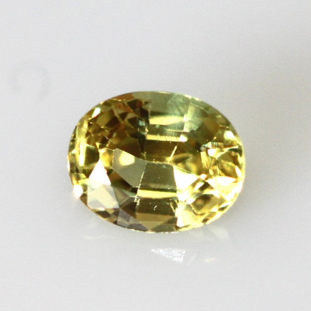 0.84cts Natural Australian Yellow Sapphire Oval Cut