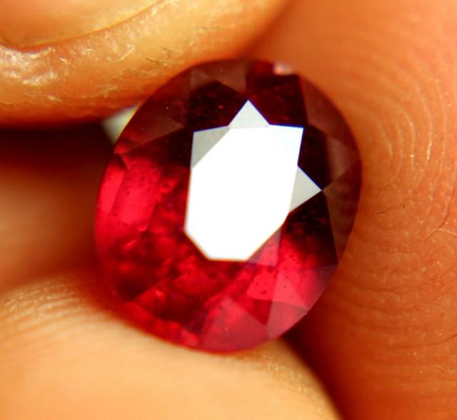 3.73 Carat Fiery SI Ruby - Beautiful Gem