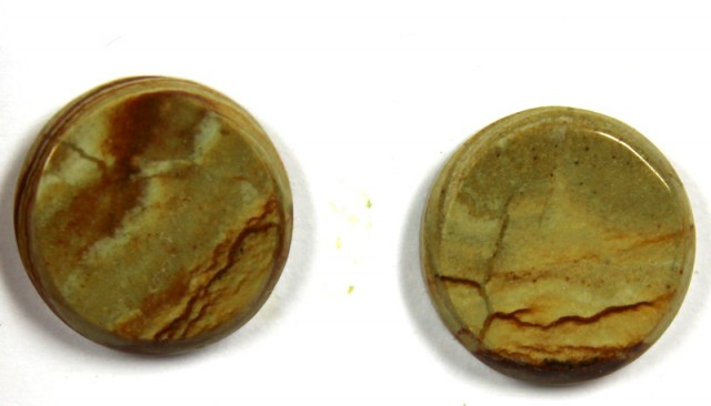 16.2 CTS JASPER PAIR POLISHED STONE GREAT RANGE IN STORE