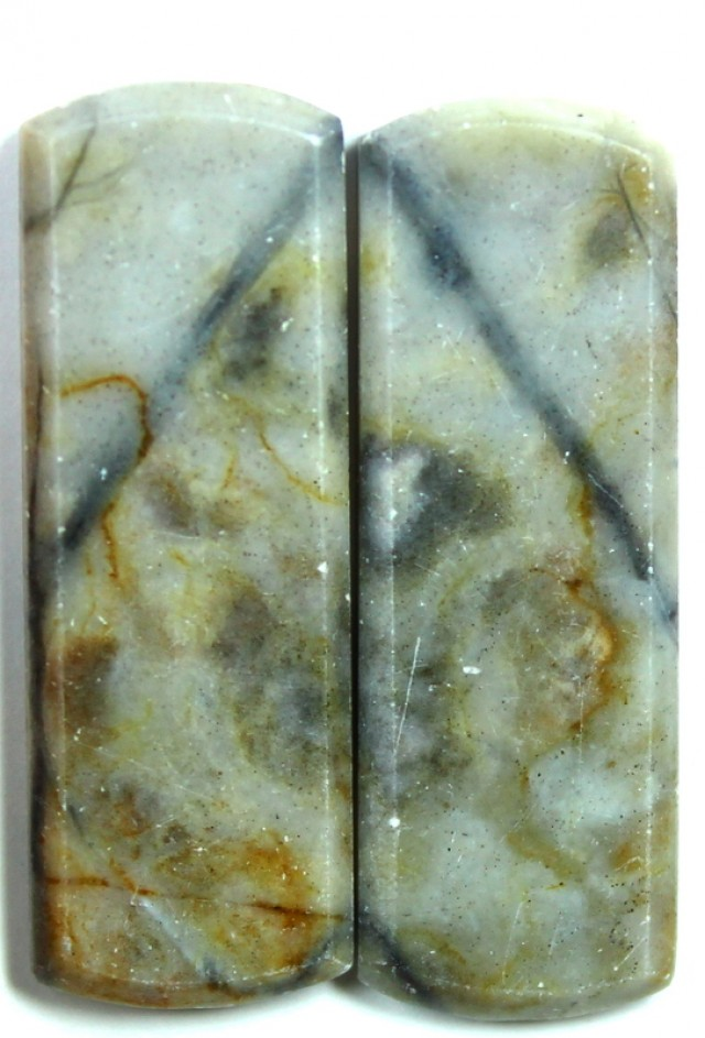 21.5 CTS JASPER PAIR POLISHED STONE GREAT RANGE IN STORE