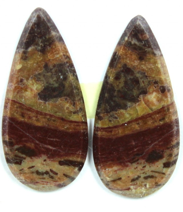15.7 CTS JASPER PAIR POLISHED STONE GREAT RANGE IN STORE
