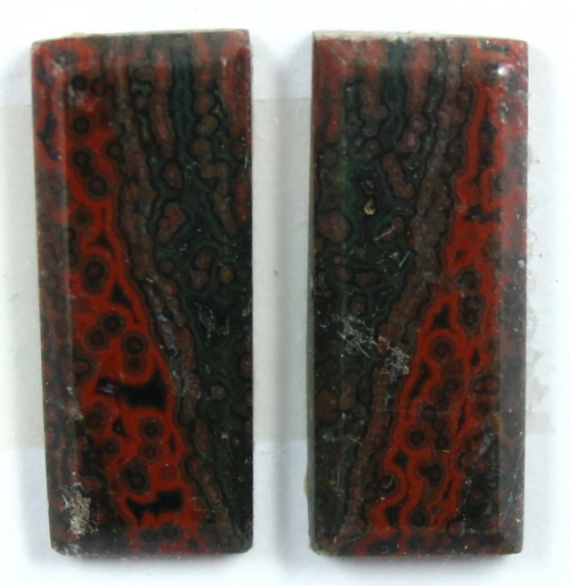 10.0 CTS JASPER PAIR POLISHED STONE GREAT RANGE IN STORE