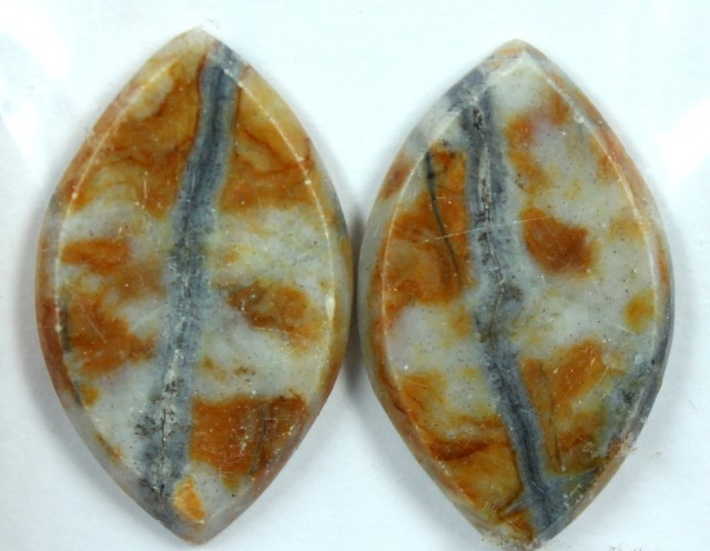 18.4 CTS JASPER PAIR POLISHED STONE GREAT RANGE IN STORE