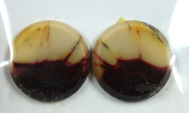 19.3 CTS JASPER PAIR POLISHED STONE GREAT RANGE IN STORE