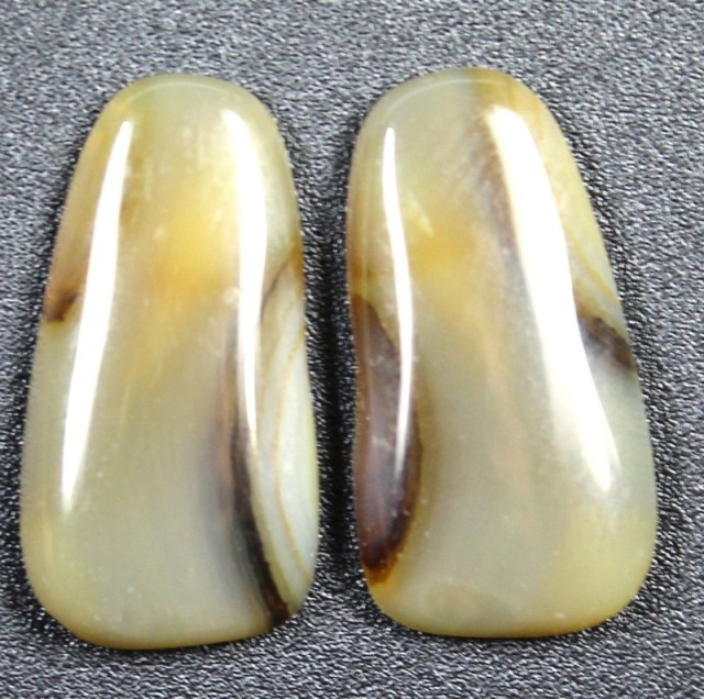 10.9 CTS WYOMING AGATE PAIR PERFECT FOR EARRINGS