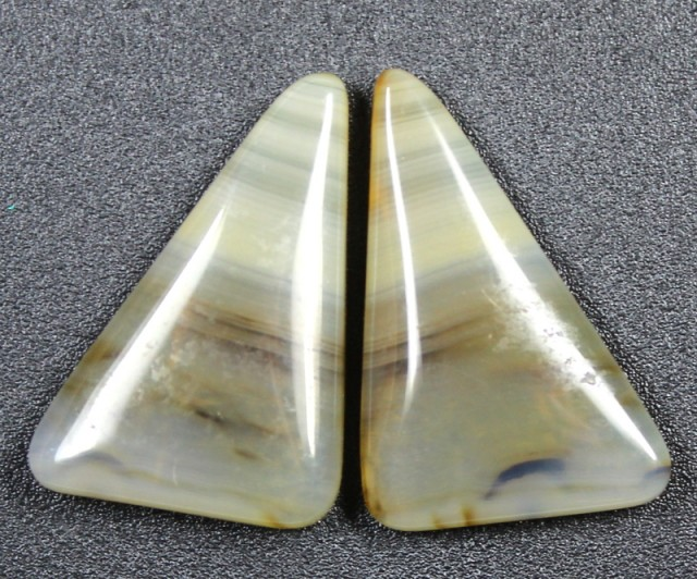 15.3 CTS WYOMING AGATE PAIR PERFECT FOR EARRINGS