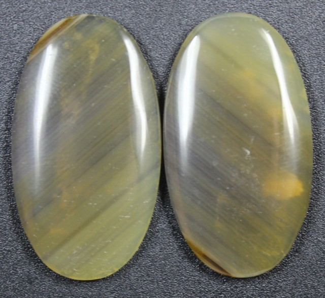 33.2 CTS WYOMING AGATE PAIR PERFECT FOR EARRINGS