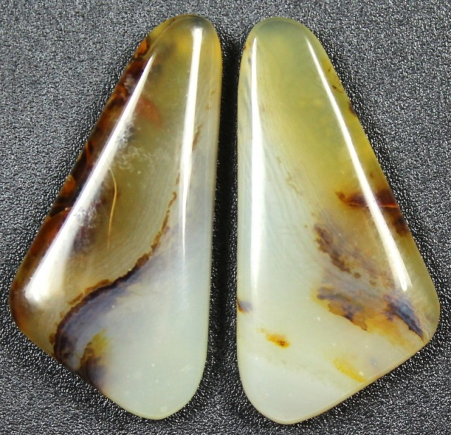 16.0 CTS WYOMING AGATE PAIR PERFECT FOR EARRINGS