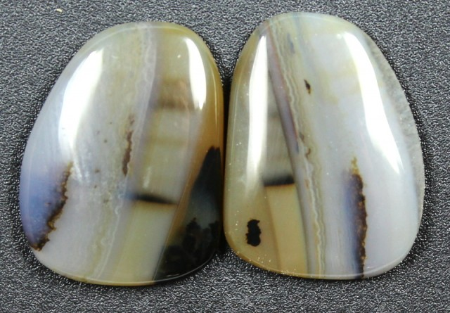 17.7 CTS WYOMING AGATE PAIR PERFECT FOR EARRINGS