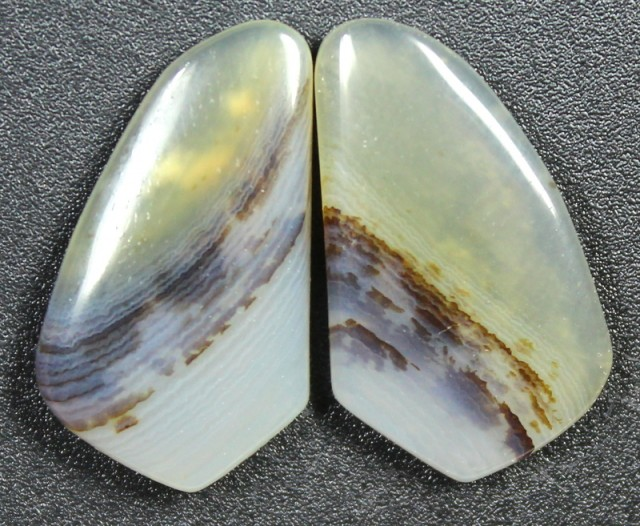 12.9 CTS WYOMING AGATE PAIR PERFECT FOR EARRINGS