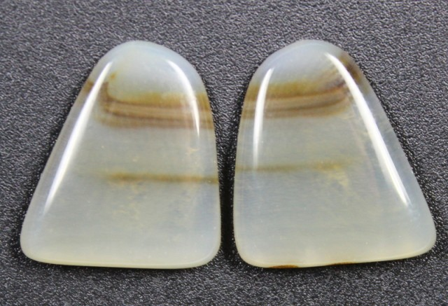 14.6 CTS WYOMING AGATE PAIR PERFECT FOR EARRINGS