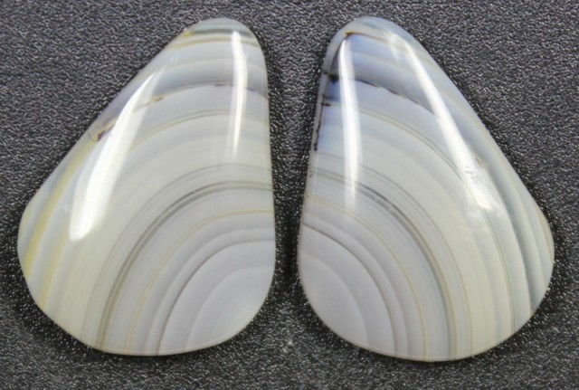 12.7 CTS WYOMING AGATE PAIR PERFECT FOR EARRINGS