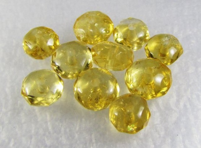 Natural Brazil Citrine Faceted Beads Z 2330