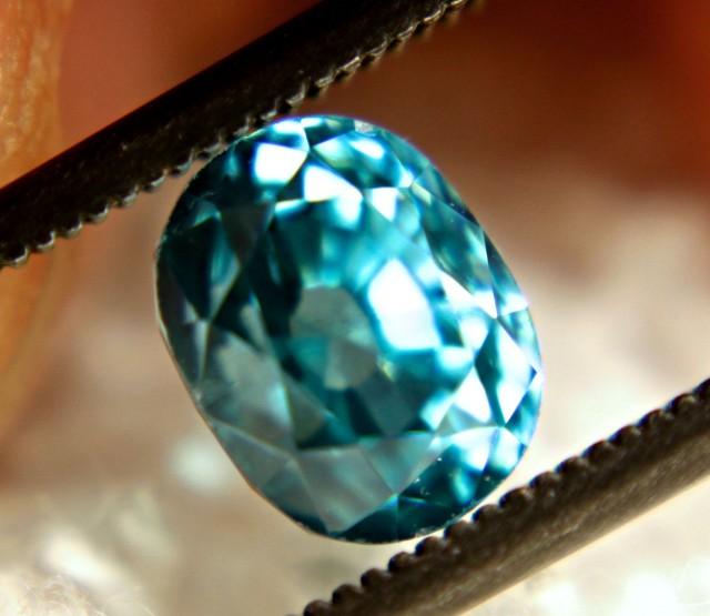 3.07 Carat VVS Blue Southeast Asian Zircon