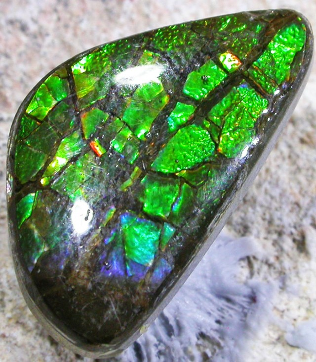 6.6 CTS NEON BRIGHT AMMOLITE DOUBLET [MGW4471]